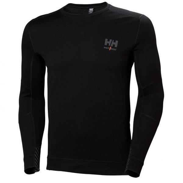 Helly Hansen - LIFA Merino tričko dlhý rukáv, čierne