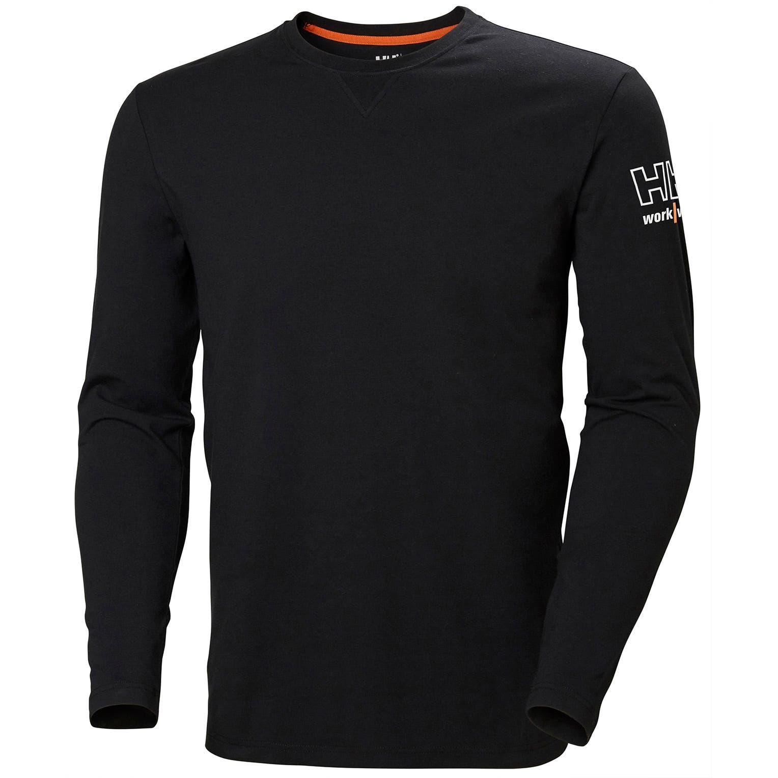 Helly Hansen Kensington tričko dlhý rukáv čierne