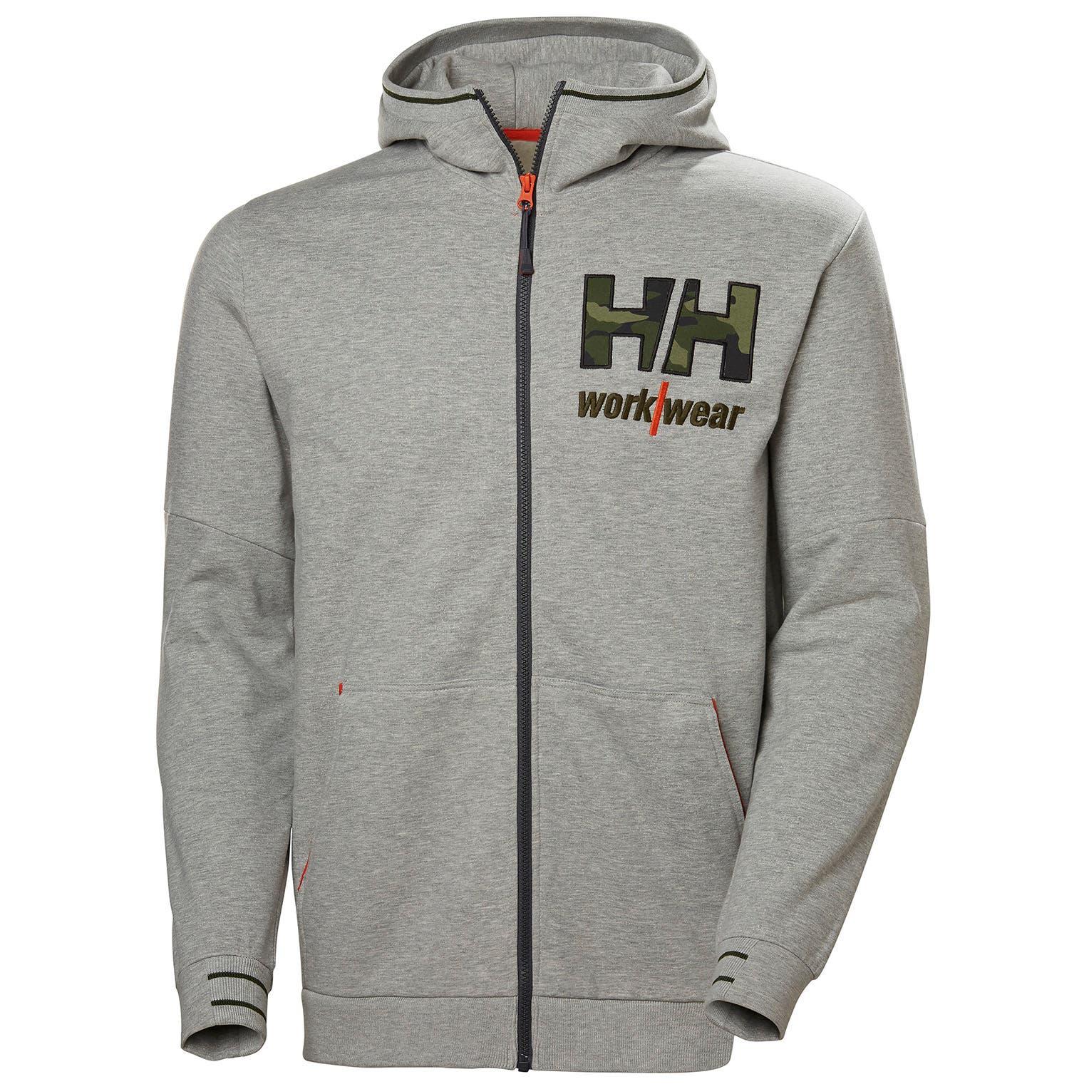 Helly Hansen Kensington mikina na zips šedá camo