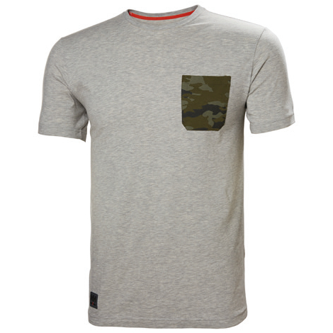 Helly Hansen Kensington tričko šedé camo