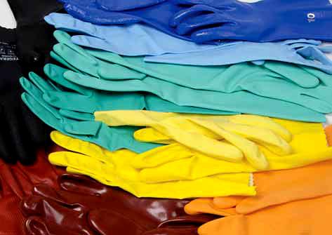 TEGERA Materiály na chemické rukavice