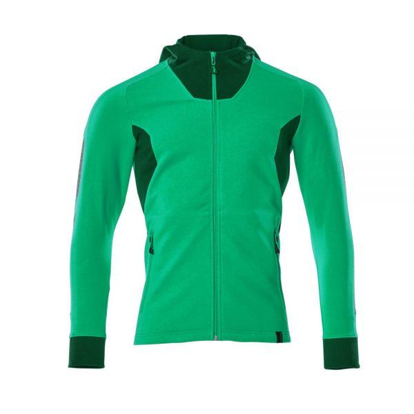 Mikina na zips s kapucňou Mascot Accelerate, zelená
