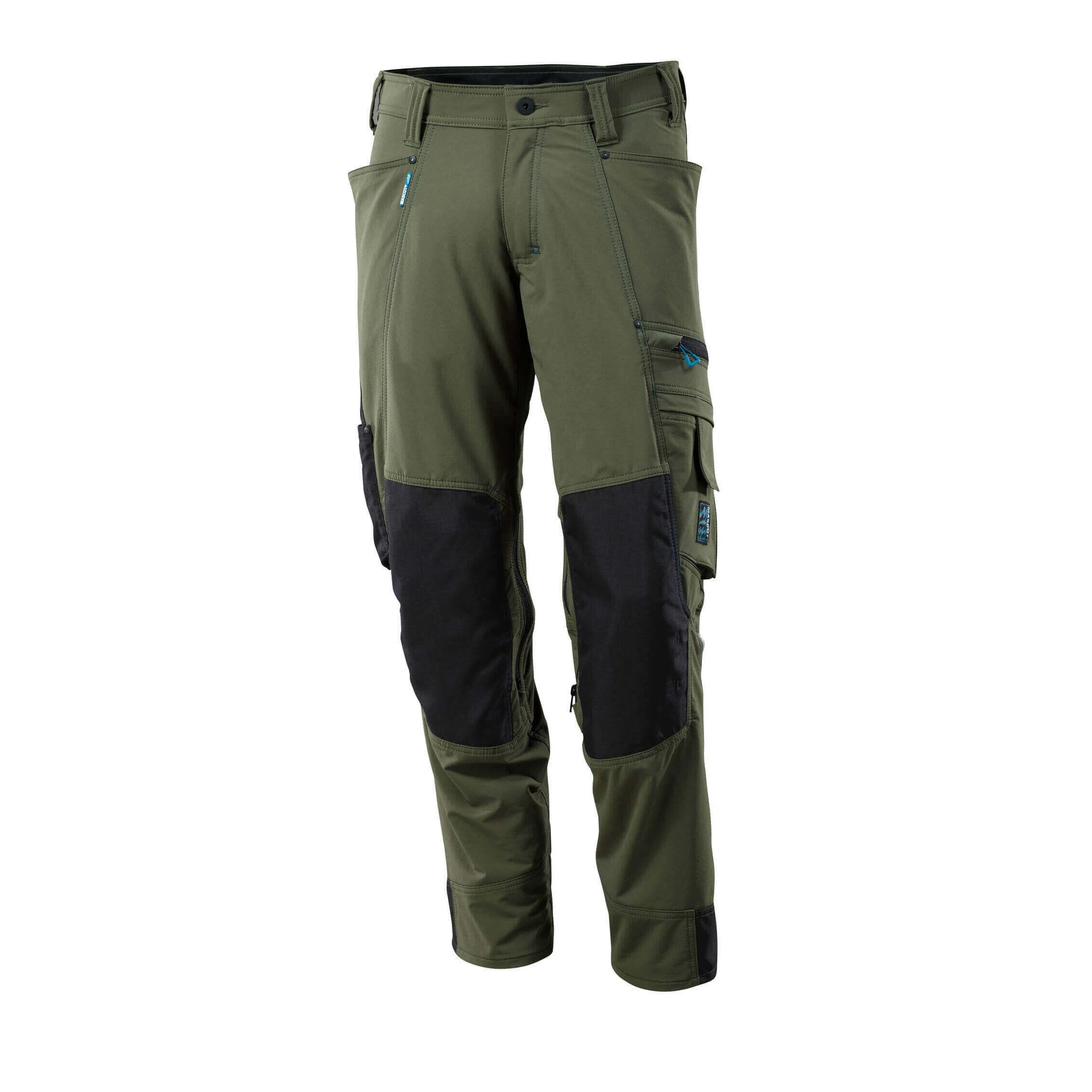 Pracovné nohavice Mascot Advanced machovo zelená