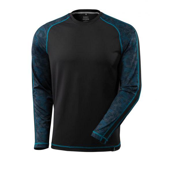 Funkčné tričko s dlhým rukávom, Mascot Advanced, čierne
