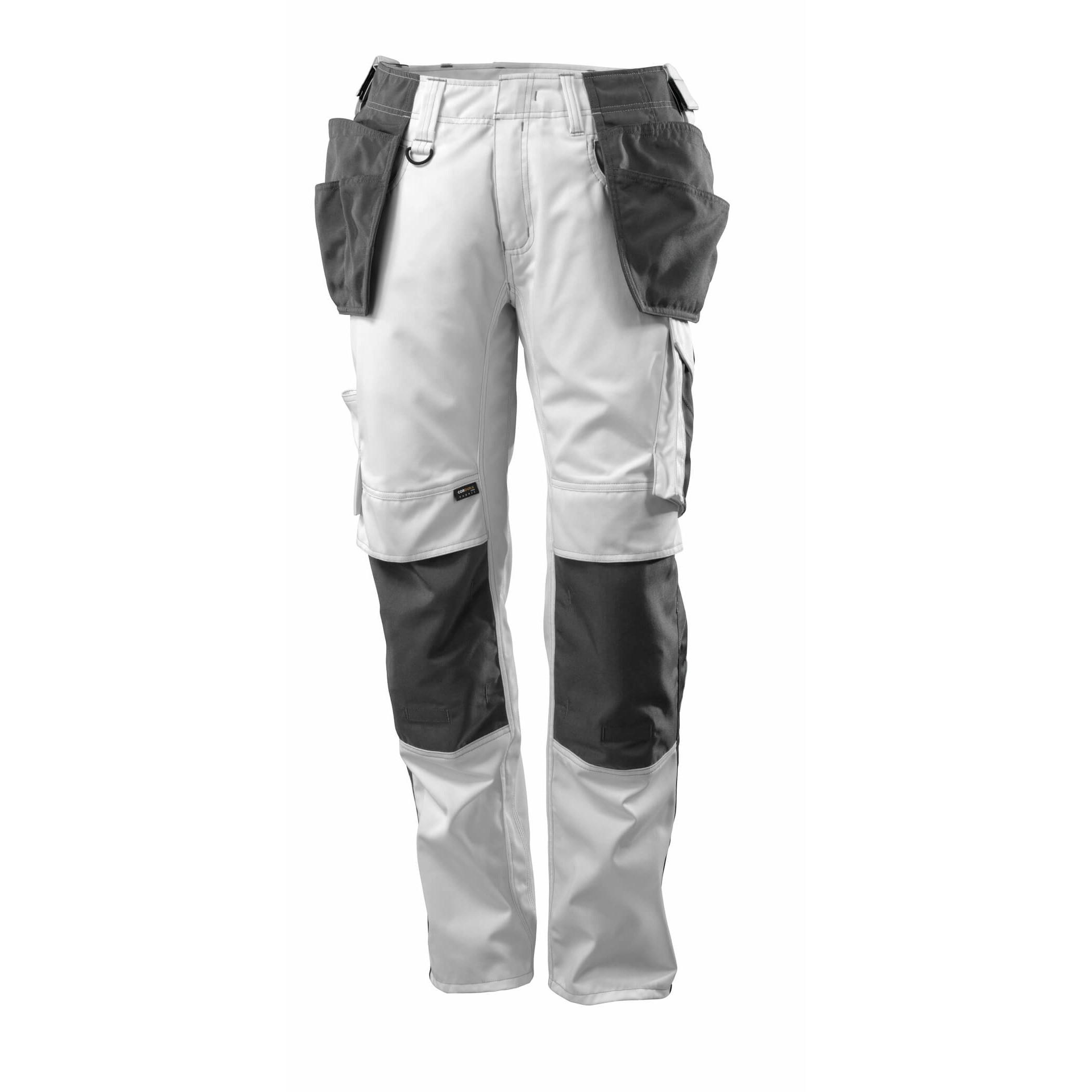 Pracovné nohavice MASCOT - UNIQUE Kassel, biela farba