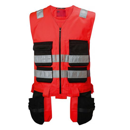 Pracovná vesta Helly Hansen Alna s visiacimi vreckami, červená