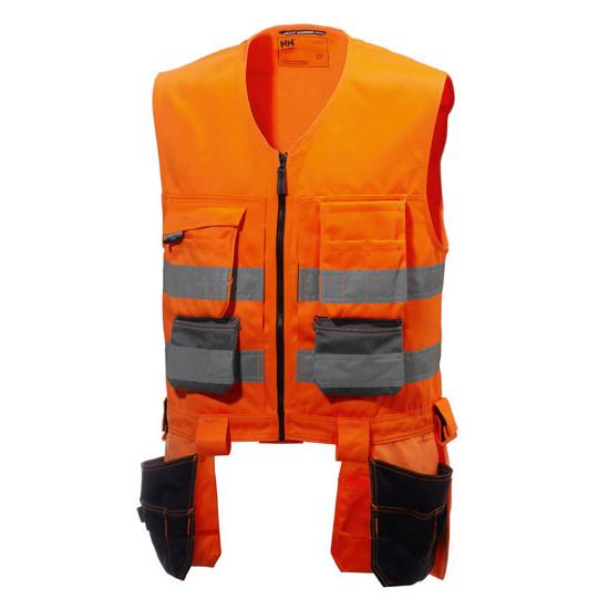 Pracovná vesta Helly Hansen Alna s visiacimi vreckami, oranžová
