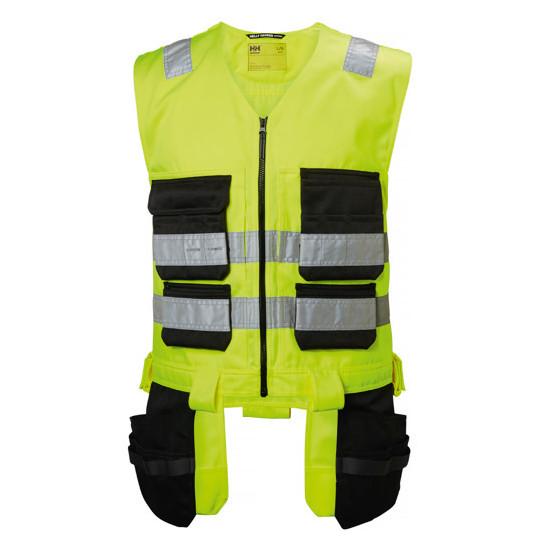 Pracovná vesta Helly Hansen Alna s visiacimi vreckami, žltá