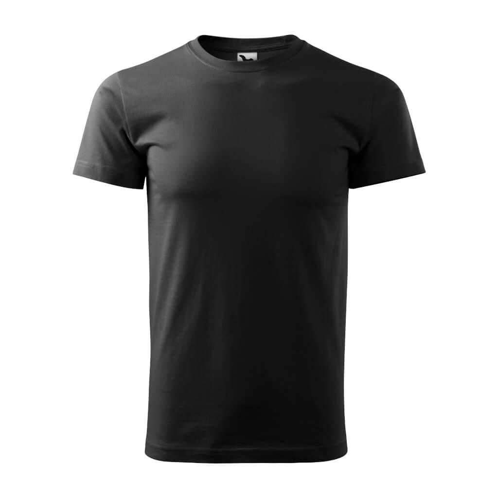 Tričko s krátkym rukávom, Basic, čierne