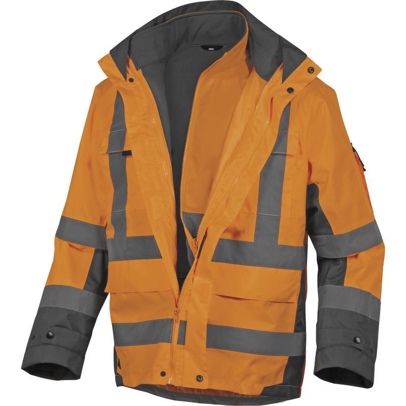 Reflexná bunda Delta Plus Tarmac oranžová