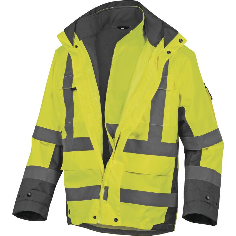 Reflexná bunda Delta Plus Tarmac žltá