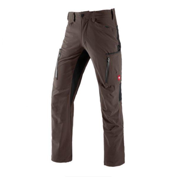 Strečové nohavice engelbert strauss, hnedé